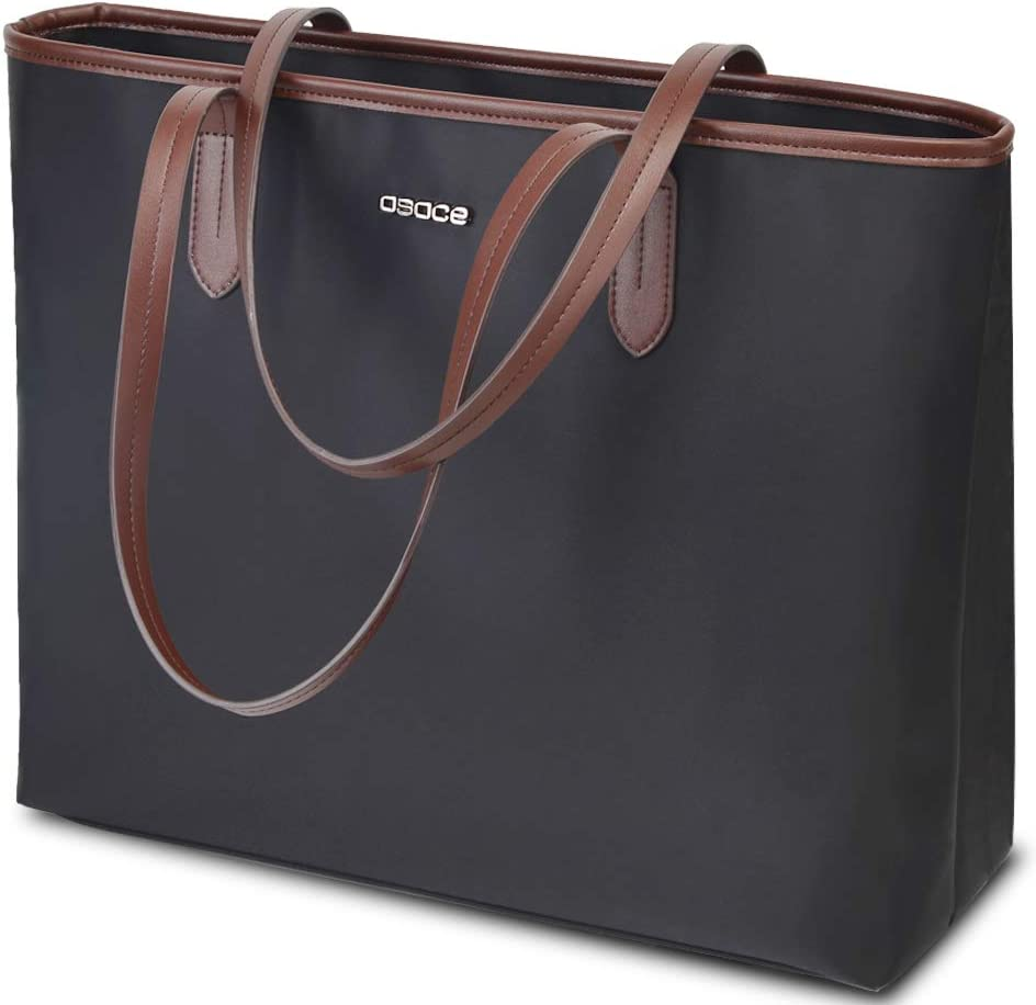 OSOCE Women Handbags Up To 15.6 '' Laptop Bag for Women, Office Bags Briefcase,Waterproof Laptop Tote Case for Women,Lightweight Tablet handbags (Black)