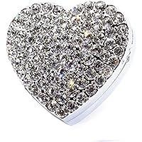 bestbling Color Blanco Ambientador para coche ventilación Clip de aleación de zinc Forma de Corazón Natural para Auto, Blanco