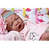 """My Cute Reborn Baby Girl Doll 14"""" inch Preemie Newborn with Beautiful Accessories Anatomically Correct Washable Berenguer Real Realistic Soft Vinyl Alive Lifelike Pacifier"""