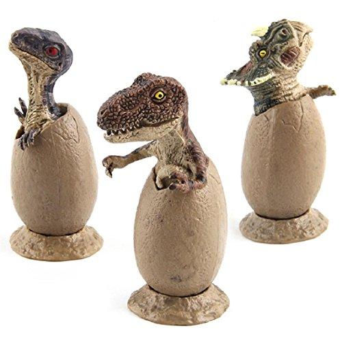 Price comparison product image Naladoo Hatching Animal Egg,  3pcs Novelty Magic Crack Easter Dinosaur Hatching Eggs Toy