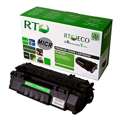 Renewable Toner 53A Q7553A Compatible MICR Toner Cartridge for Check Printing with HP LaserJet P2015 M2727 Printers