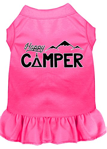 [Mirage Pet Products 58-59 BPKXXL Happy Camper Screen Print Dog Dress, XX-Large, Bright Pink] (Happy Campers Costume)