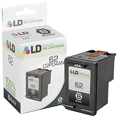 LD © Remanufactured Replacement for HP C2P04AN / 62 Black Ink Cartridge for HP ENVY 5640, 5642, 5643, 5644, 5646, 5660, 7640, 7645, OfficeJet 5740, 5742, 5745, 200, 250