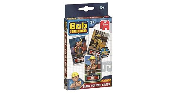 Disney Jumbo 19531 Bob el Constructor Juego de Cartas: Amazon.es: Juguetes y juegos