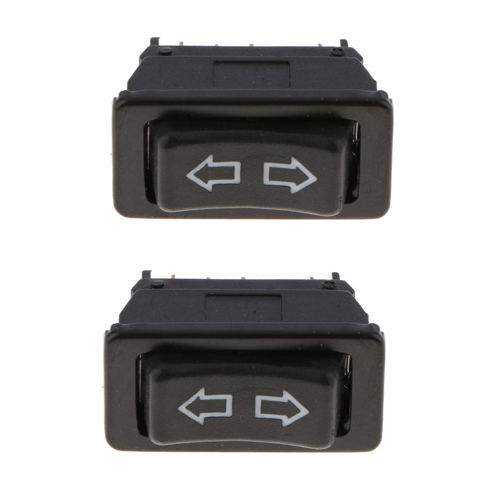 Filas Duales 5 Terminales De Energ/ía El/éctrica Elevalunas Botones Interruptor Luz Verde
