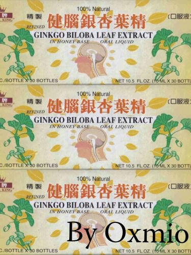 3 BOXES ROYAL KING GINKGO BILOBA LEAF EXTRACT MEMORY CONCENTRATION -