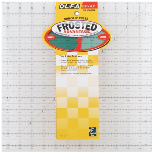 OLFA 1071818 QR-12S 12-1/2-Inch Square Frosted Advantage Acrylic (Frosted Advantage Acrylic Ruler)