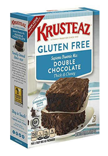 (Krusteaz Gluten Free Double Chocolate Brownie Mix, 20-Ounce Boxes (Pack of 8))