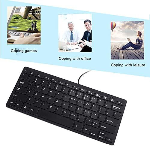 Crewell Ultra Mince Silencieux Petit Clavier Filaire