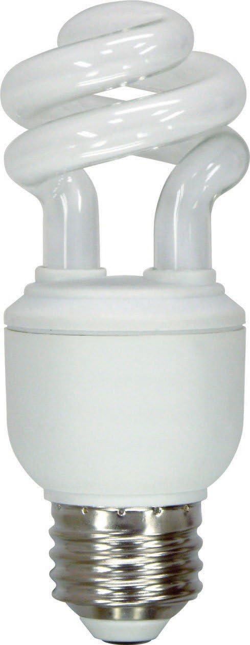 GE Lighting 74196 Energy Smart Spiral CFL 10-Watt (40-watt replacement) 520-Lumen T3 Spiral Light Bulb with Medium Base, 1-Pack