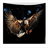 Personalized Tapestry, Eagle Pattern Nordic Polyester Tapestry, Wall Decoration, Beach Towel Carpet , A , 200x150cm