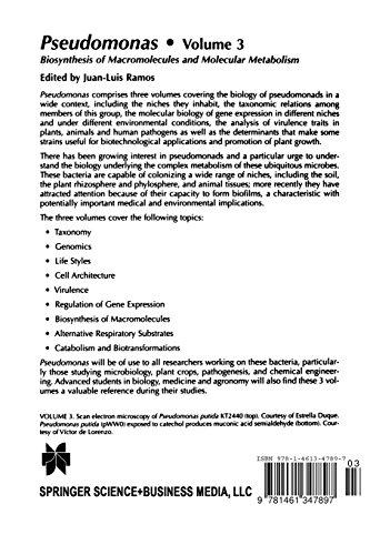 Pseudomonas: Volume 3 Biosynthesis of Macromolecules and Molecular Metabolism