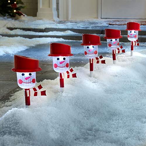 Outdoor Snowman Pathway Lights in US - 1