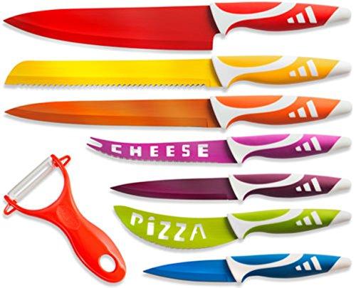 OxGord Professional Chef Knife Set Multi Use 8pc Gift Box for Home Kitchen
