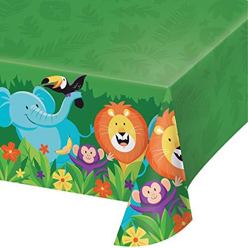 Jungle Themed Table Covers - Jungle Safari Plastic Tablecloths, 3