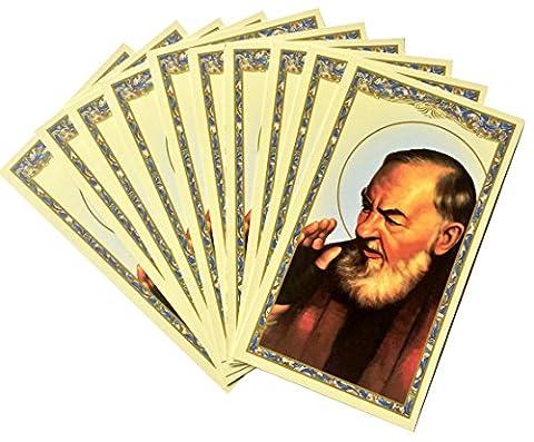 Saint Padre Pio Holy Card -Prayer to Padre Pio (10 pack) - God Prayer Card