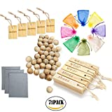 Akers Moth Balls Repellent for Closet Clothes Storage Taken from Natural Cinnamomum Camphor Wood Root Blocks and Balls Accessories 71 Pieces Value Pack