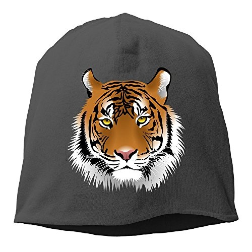 Tiger Woods Watch Ladies (DMN Fashion Solid Color Tiger Head Watch Cap For Unisex Black One Size)