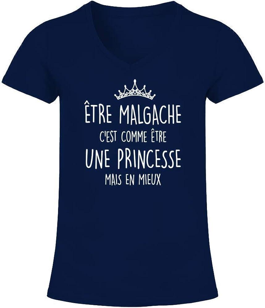 TEEZILY T-Shirt Femme Madagascar Princesse et Malgache