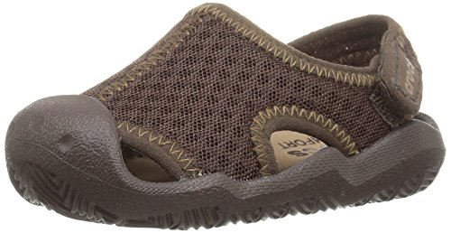 Crocs Kids' Swiftwater Sandal,Espresso/Khaki,10 M US Toddler by Crocs