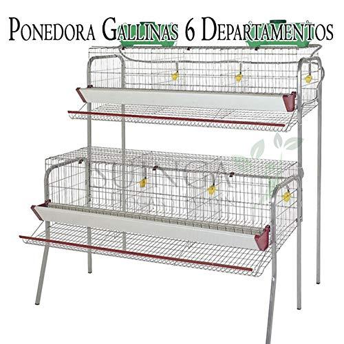 Bateria GALLINAS PONEDORAS 6 departamentos. Capacidad 30 gallinas ...