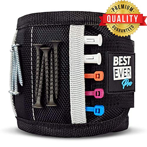 - BEST EVER Pro Magnetic Wristband with Strong Magnets & Pockets to Hold Screws, Nails, and Plastic Tools. Amazing Helping Hand for Your DIY Projects. Best Gift for Men, Birthday, Father, Dad, Women