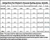 Womens Cycling Jersey Wosawe Short Sleeve Cycle