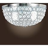 Museum Light Modern Crystal Chandelier Flush Mount Light Lighting Fixture 2 lights CAA-137/X-2L W13 Silver