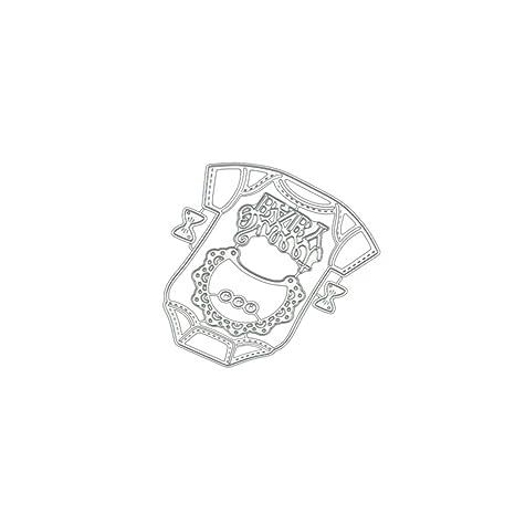 Baby Clothes DIY Metal Cutting Dies Stencil Scrapbooking Photo Album Stamp Craft