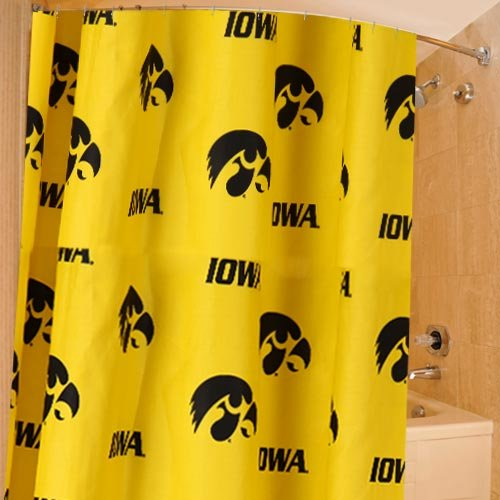 College Covers Shower Curtain Cover, 70'' x 72'', Iowa Hawkeyes by College Covers