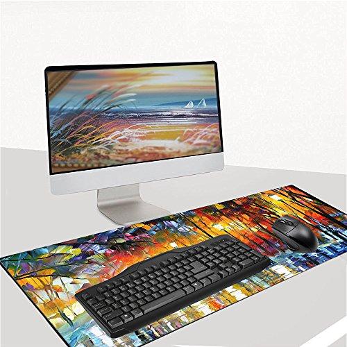 """Ruifengsheng MauspadGaming XXL & Groß Extended Wasserdicht Mouse Mat für PC, Computer und Laptop - 35.4""""x15.7"""" (90x40 Forest018)"""