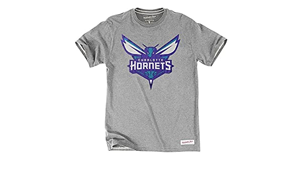Mitchell & Ness NBA Charlotte Hornets tailored logo T-Shirt gris Talla:extra-large: Amazon.es: Deportes y aire libre