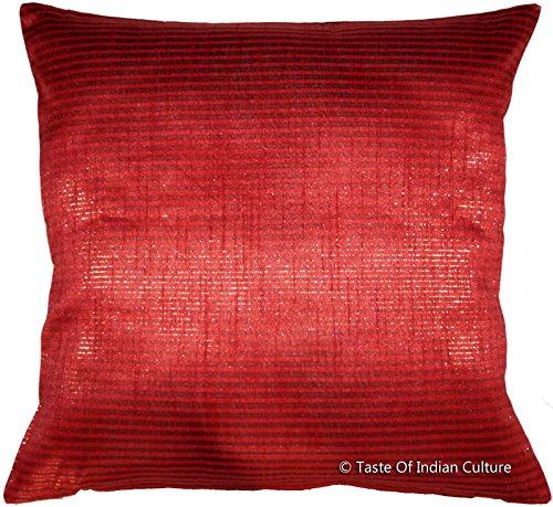 Square 16'' Dupion Silk Cushion Pillow Case Cover Sofa Throw Home Indian Decor (Dupion Cushion Silk)