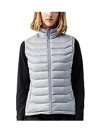 TECTOP Women's Packable Warm Outerwear Vest Against Water Splash Windproof Down Vest