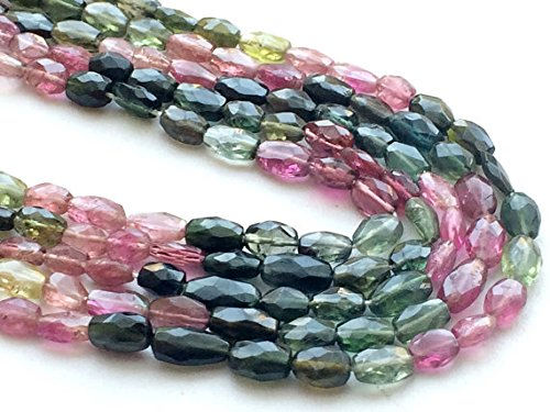 1 Strand Natural Multi Tourmaline, Tourmaline Necklace, 4x6mm Approx., 7 Inch