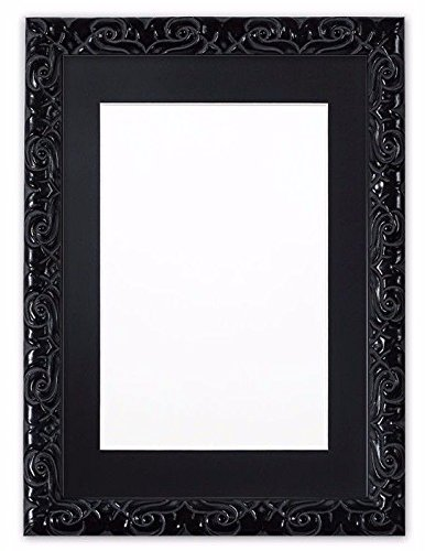 ornate black picture frames rectangle black paintings frames cushion ornate swept photo frame picture poster an mdf backing board macos amazoncom
