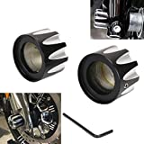 Jade Black CNC Excalibur Front Axle Nut Cover Bolt For Harley Touring FLHX FLHR FLTR Softail Dyna Fatboy