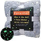 featured product Forestar Glow in The Dark Throw Blanket for Kids/Adults 50 x 70 with Magic Glowing Stars Lengthened Super Soft Double Side Skin-Friendly Polyester Flannel Fleece Sofa and Bed Throw as Gift(Gray)