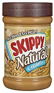 Skippy Natural Peanut Butter, Creamy, 15 Oz