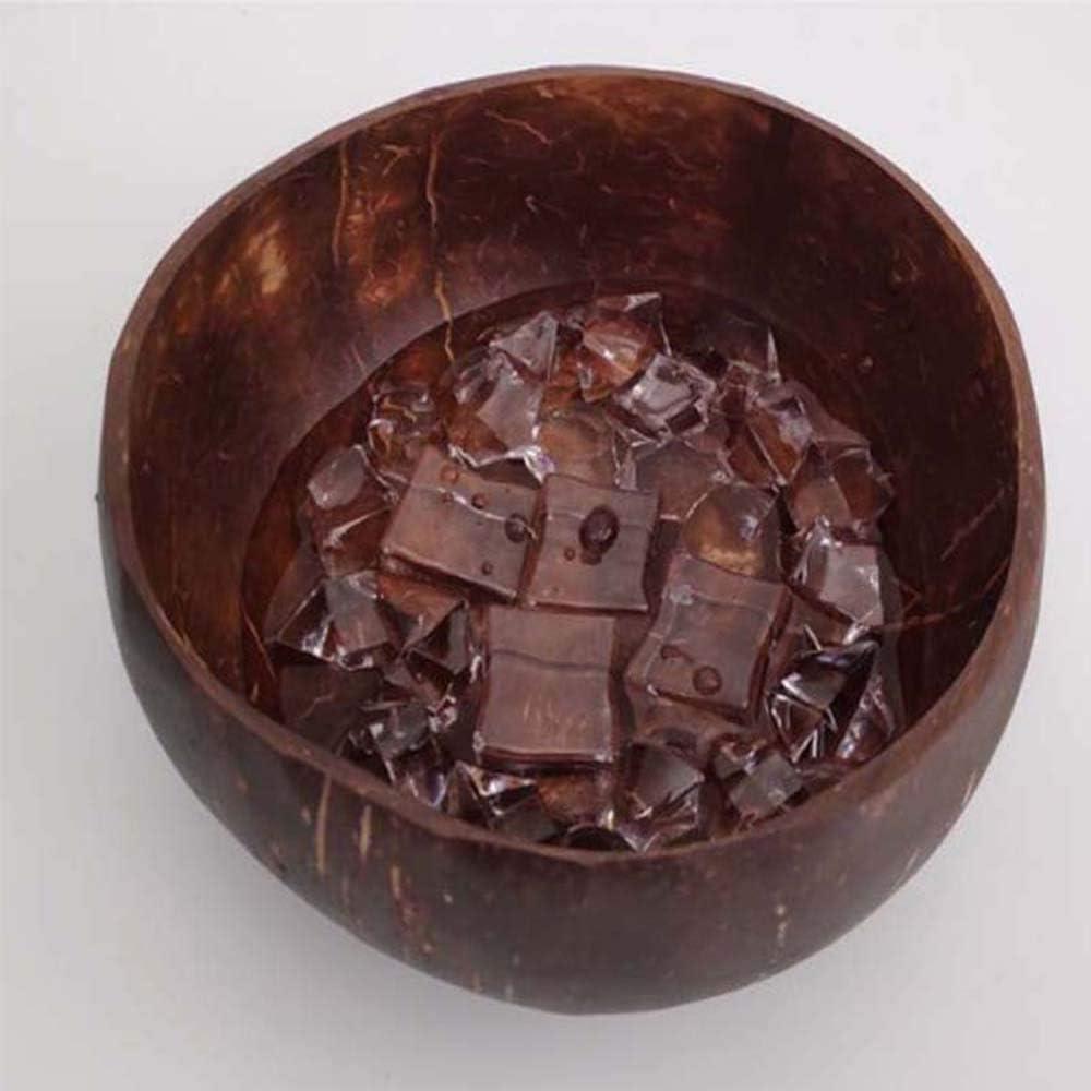 Gelati Pasta Ecologico Leggero e Vegano per servire insalate soffriggere e Cereali 100/% Naturale lucidato con Olio di Cocco Regalo per Vegani LQMILK Coconut Bowl