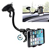 Shopdeal Car Mobile Holder for Xiaomi Mi Max 2 Navigator Car Mobile Holder Stand | Premium 360 ° Degree Rotable Mobile Phone & GPS Device Holder For Desk Mount | Car Windshield | Car Dashboard | Working Desks | Best Quality Lower Price Car Mobile Holder Stand Mount | Premium Touch One Adjustable Car Mobile Holder - Black