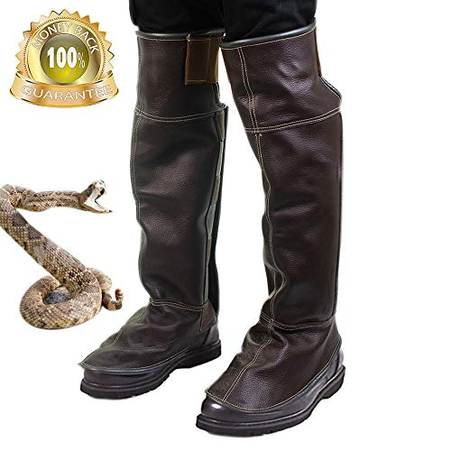 Zhaoyun Snake Guard Snake Shin Guard -Leather Leg Snake Gaiter and Snake Bite Leggings for Men and Women-Random Color ()