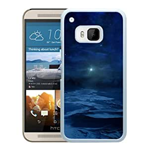 New Beautiful Custom Designed Cover Case For HTC ONE M9 With The Blue Cold Night (2) Phone Case