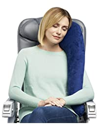 NEW Travelrest All-In-One Premium Travel Pillow - Includes Plush Washable Zippered Cover and Memory Foam Inserts - Great For Side Sleepers (Pillow with Cover)