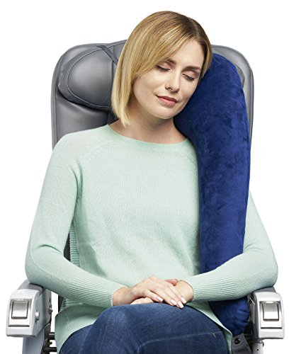 Travelrest All-In-One Premium Travel Pillow / Neck Pillow - Plush Washable Cover w/Memory Foam Inserts - Great For Airplanes, Autos, Trains, Buses, Wheelchairs, Office Napping (Pillow with Cover)