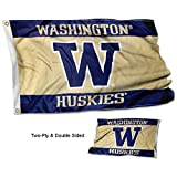 College Flags and Banners Co. Washington Huskies Double Sided Flag