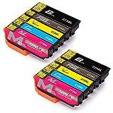 CMTOP 2Set Remanufactured 273 273XL Ink Cartridges High Yield, (2 Black 2 Cyan 2 Magenta 2 Yellow) for Expression Premium XP-600 XP-610 XP-800 XP-810 Printer