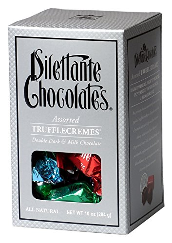 Truffles Wholesale Wedding Party Favor - Dilettante Chocolates Double Dark and Milk Chocolate Assorted Truffle Cremes Gift Box, 10 oz