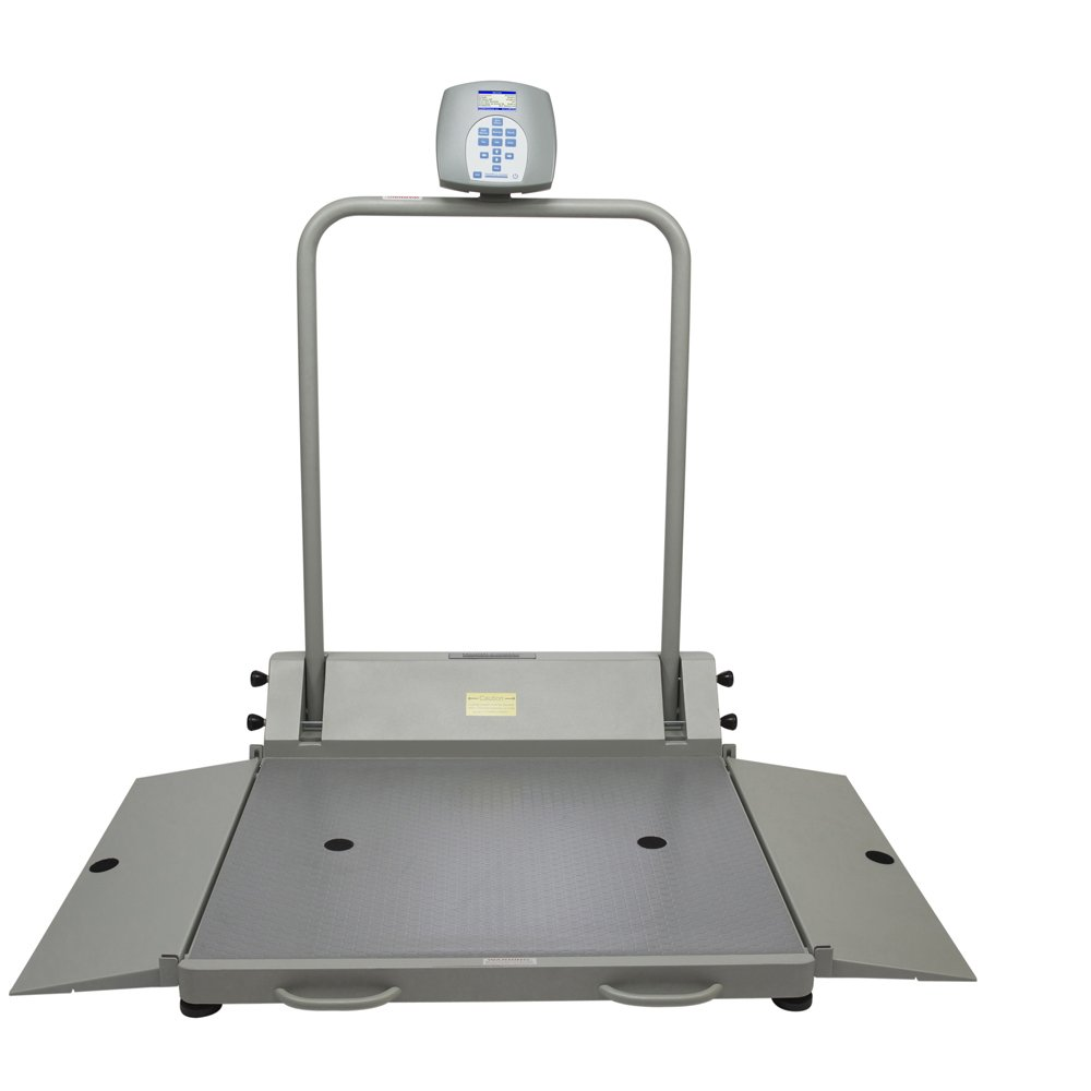 Health O Meter 2610KL Digital Wheelchair Dual Ramp Scale with Folding Ramps, Capacity 1000 lbs., Resolution 0.2 lb, 32-1/4'' x 36'' Platform
