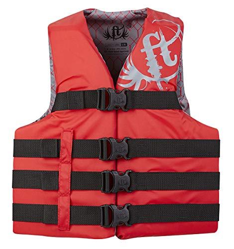 KENT Sporting Goods Co 112200-100-080-19 Full Throttle Vest 4-Belt Nylon Red 2XL/4XL